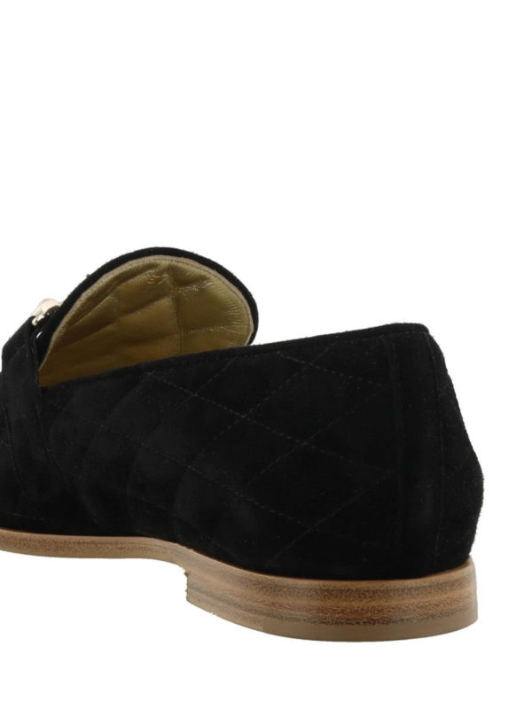 Black Double T quilted loafers shop online: TOD