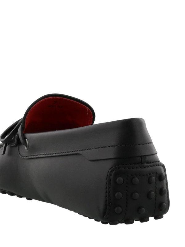 Black Gommino-Ferrari loafers shop online: TOD