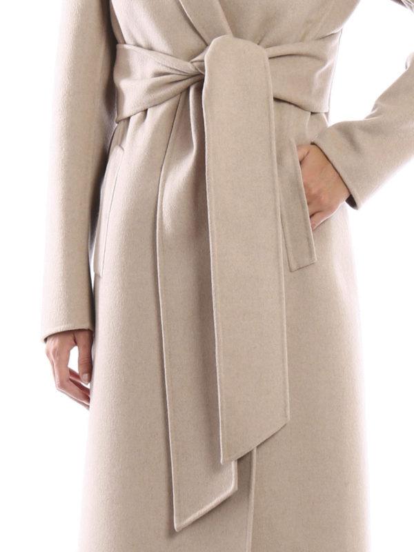 Bottega Veneta Double Cashmere Wrap Coat Long Coats