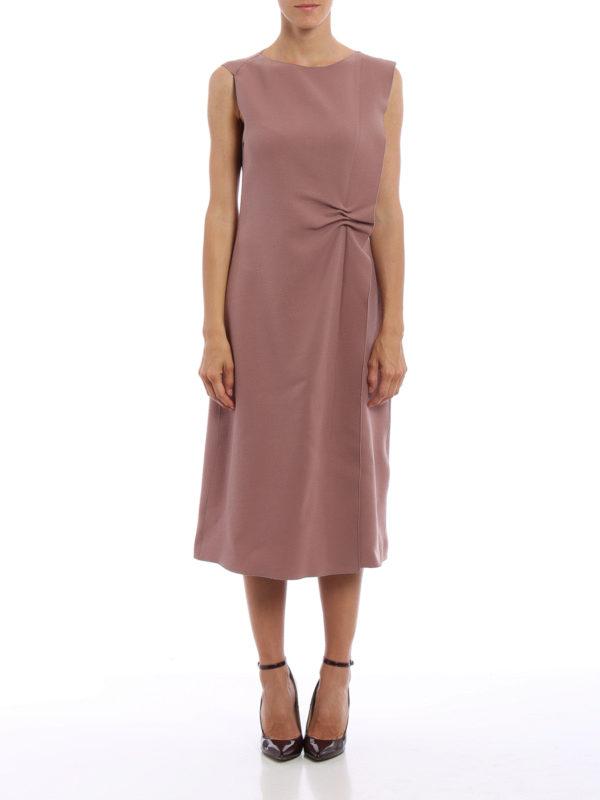 Bottega Veneta: Knielange Kleider online - Knielanges Kleid - Einfarbig
