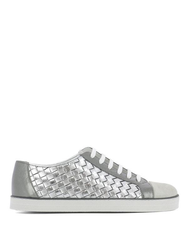 Bottega Veneta: Sneaker - Sneaker - Silber