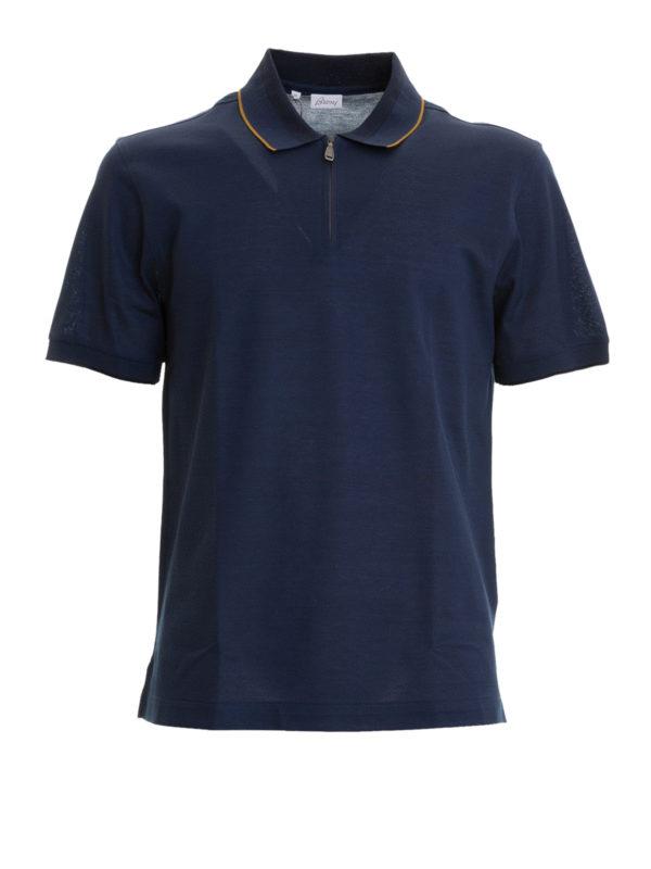 BRIONI: Poloshirts - Poloshirt - Blau