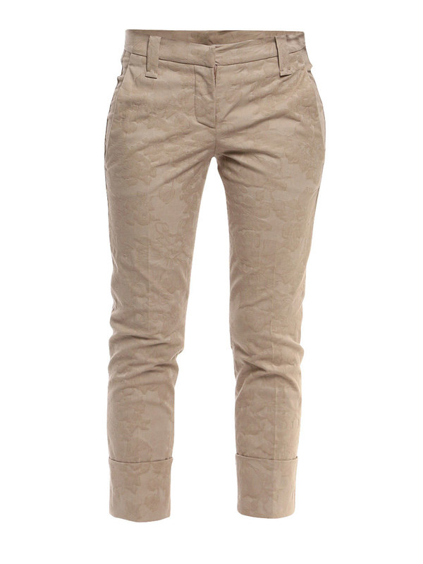 Brunello Cucinelli: casual trousers - Brocade pants