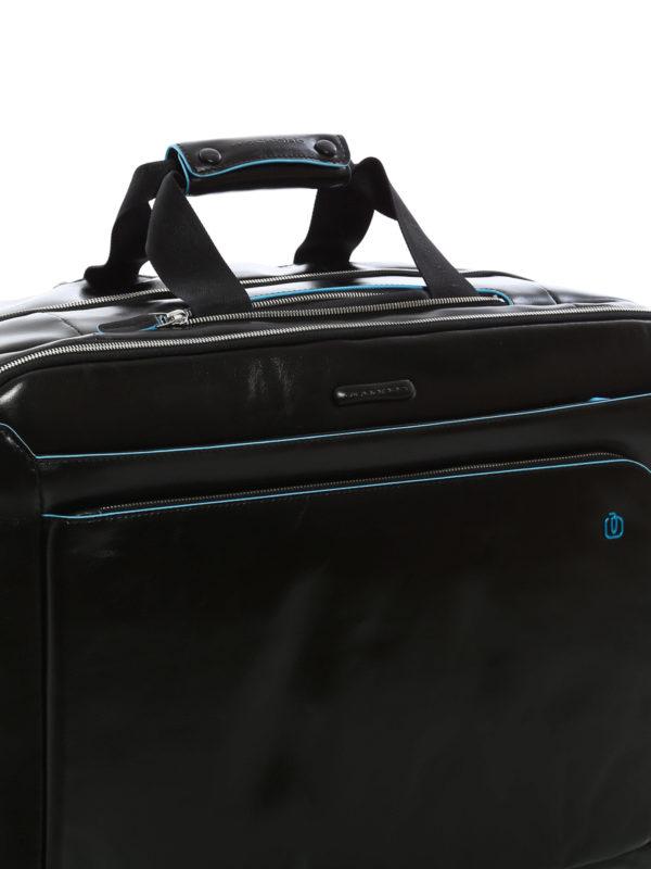 Brushed calfskin cabin luggage shop online: PIQUADRO