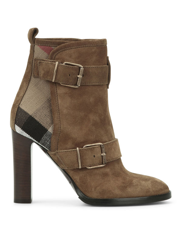 Burberry: ankle boots online - Suede ankle boots
