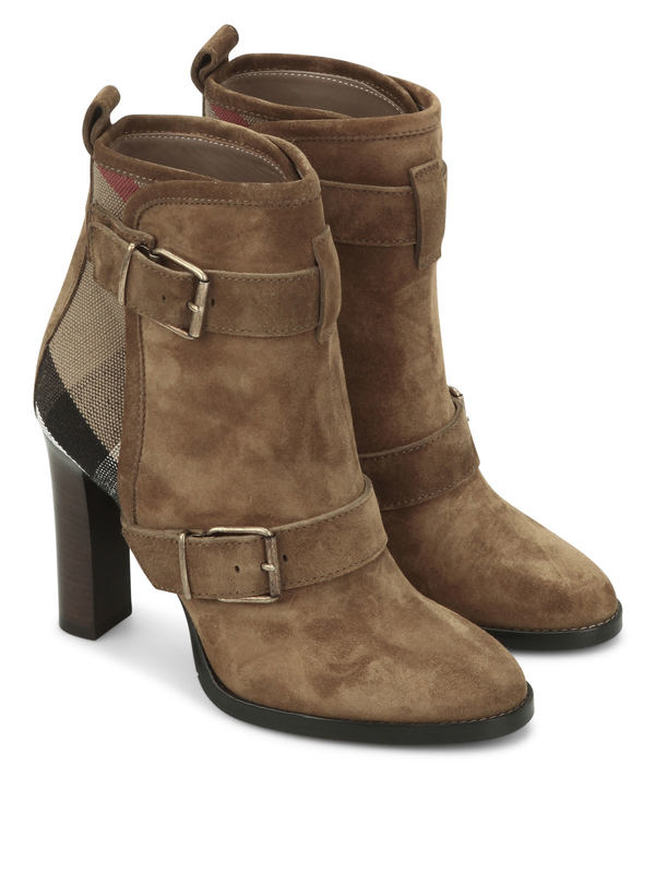 Burberry: ankle boots - Suede ankle boots