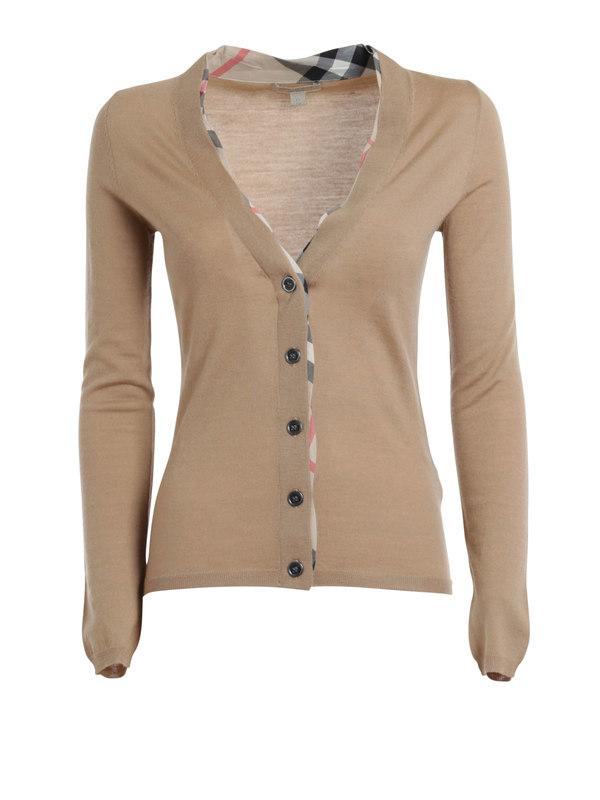 Burberry Brit: cardigans - Merino wool cardigan