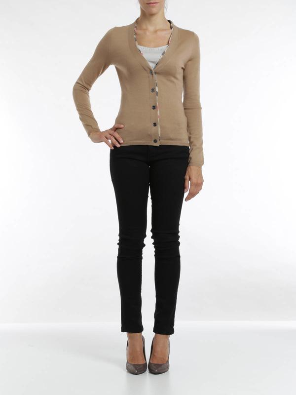 Burberry Brit: cardigans online - Merino wool cardigan