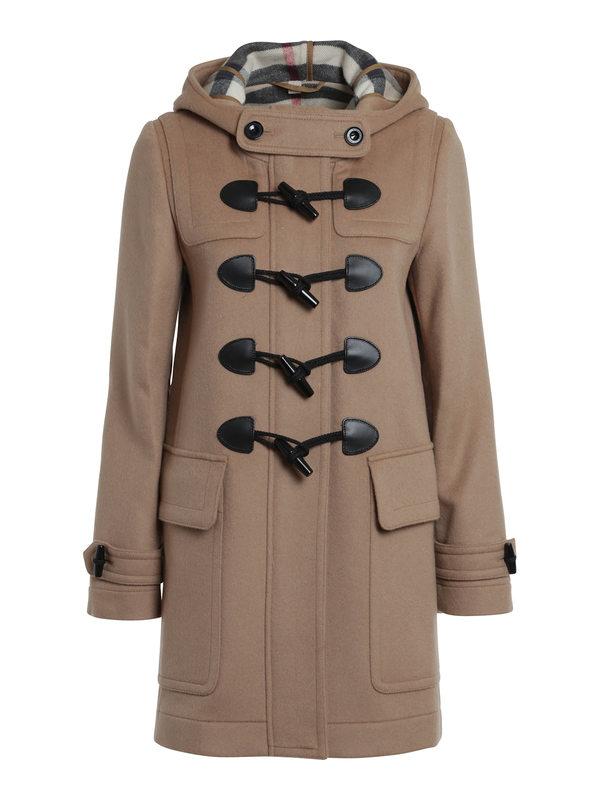 Burberry Brit: knee length coats - Finsdale wool duffle coat