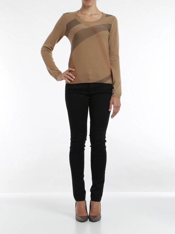 Burberry Brit: crew necks online - Check print sweater