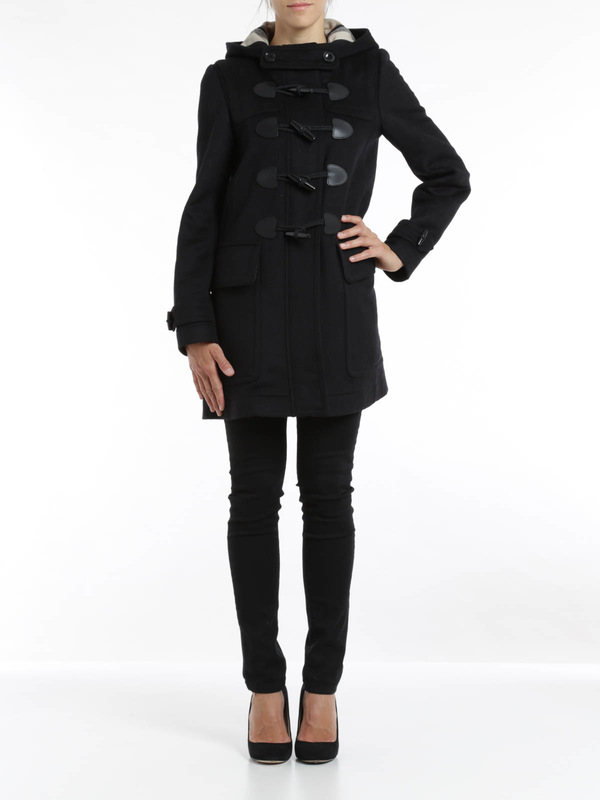 Burberry Brit: knee length coats online - Finsdale wool duffle coat