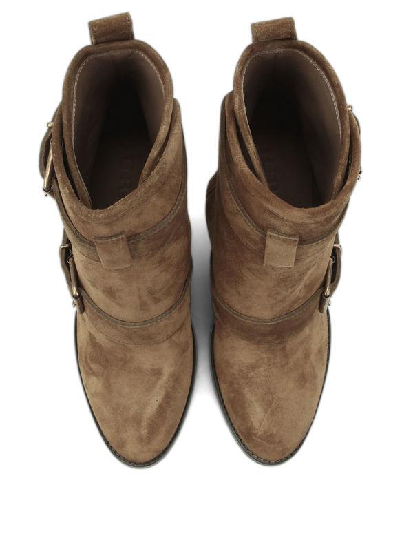 Burberry buy online Stiefeletten aus Veloursleder