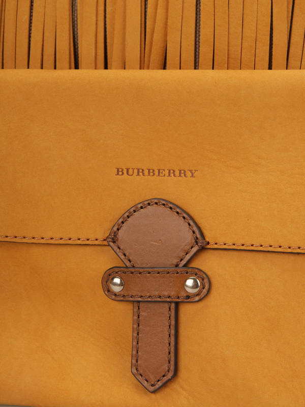 Burberry buy online Susanna Fringed canvas check bag