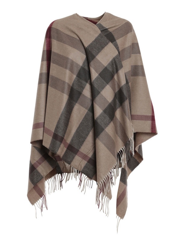 Burberry - Checked poncho - Capes & Ponchos