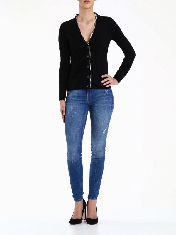 Burberry: cardigans online - Merino wool cardigan