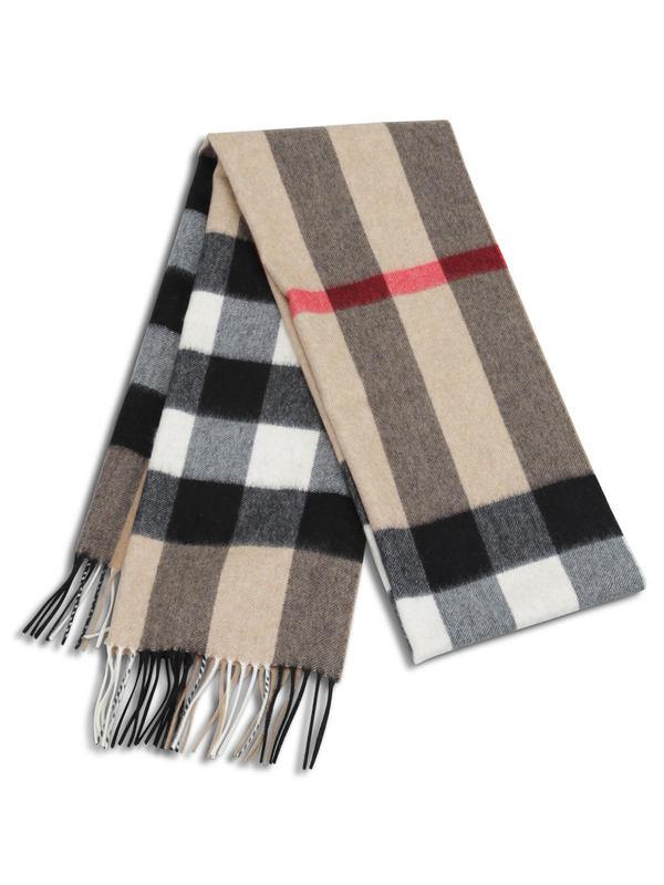 bfec8ec8f62b4 Burberry - Half Mega Check cashmere scarf - scarves - 3766775 ...