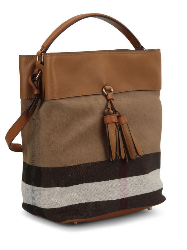 BURBERRY: shoulder bags online - Susanna Canvas Check hobo bag