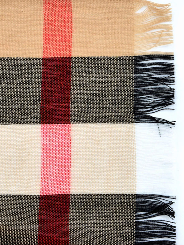 Burberry: scarves online - Check merino and cashmere scarf