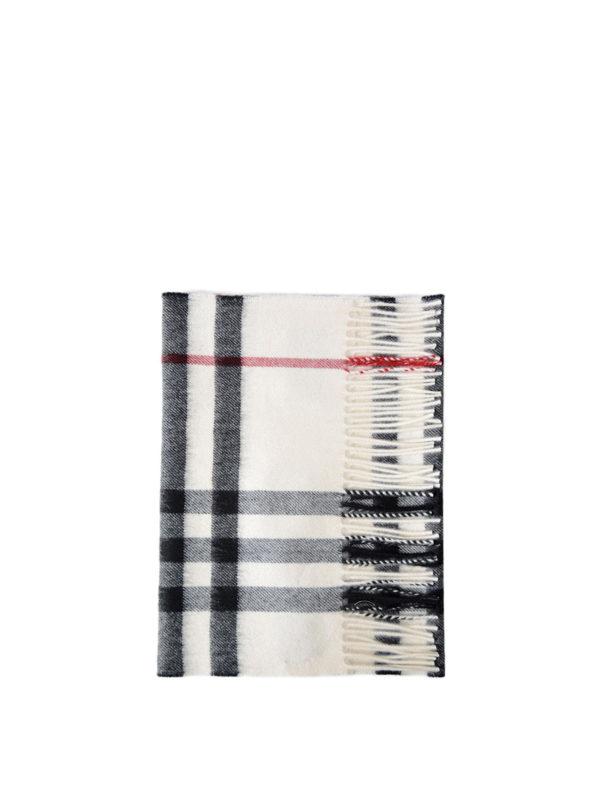 BURBERRY: Bufandas y pañuelos - Bufanda - Blanco