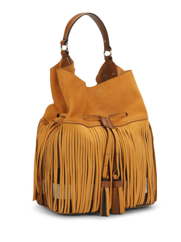 Burberry: shoulder bags online - Susanna Fringed canvas check bag