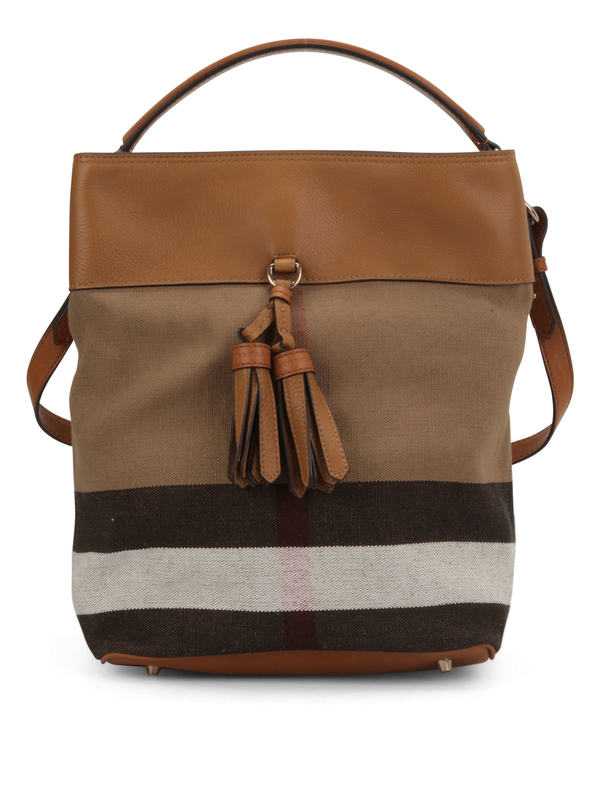 Burberry: shoulder bags - Susanna Canvas Check hobo bag