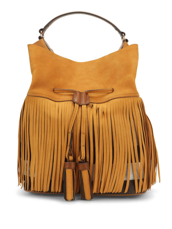 Burberry: shoulder bags - Susanna Fringed canvas check bag