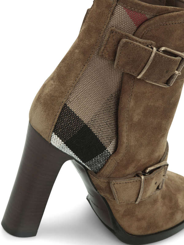 iKRIX BURBERRY: Stiefeletten aus Veloursleder