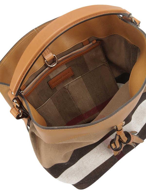 iKRIX BURBERRY: Susanna Canvas Check hobo bag