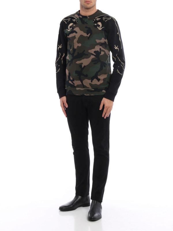 Sweatshirt - Dunkelgrün shop online: Valentino