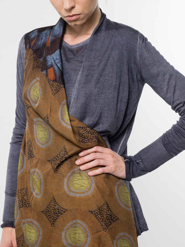 Cardigan with draped foulard shop online: Avant Toi