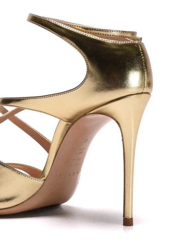 Casadei buy online Barbarella mirror leather sandals