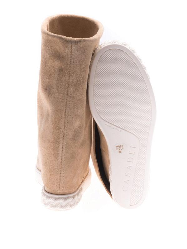 Casadei buy online Reversible beige suede wedge boots