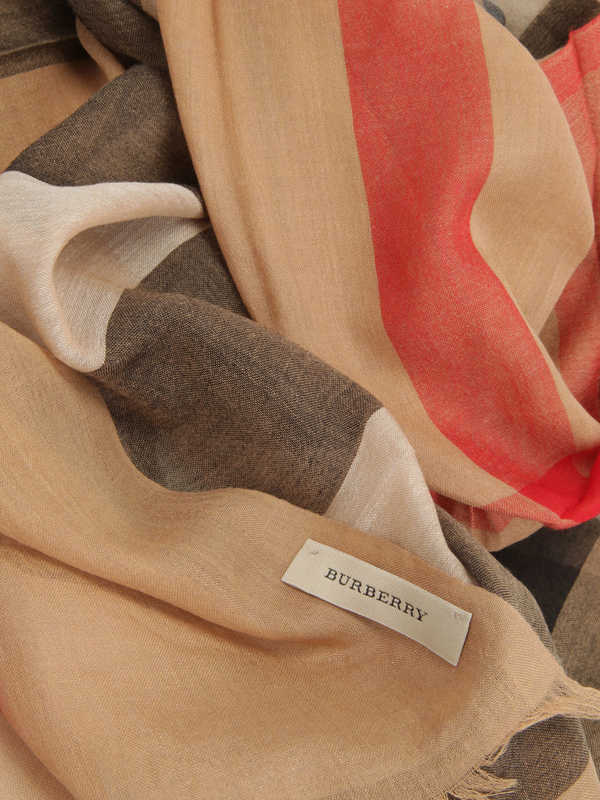Check Modal Cashmere and Silk Scarf shop online: Burberry