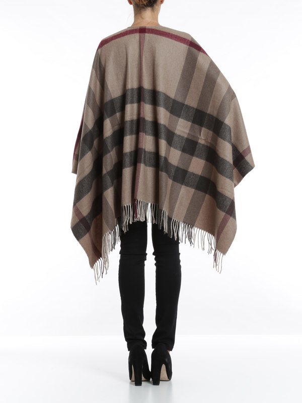 checked poncho by burberry capes ponchos ikrix. Black Bedroom Furniture Sets. Home Design Ideas