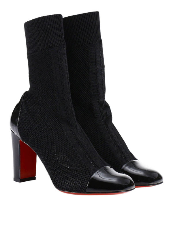 9366083c732 Christian Louboutin - Taco Sock stretch patent booties - ankle boots ...