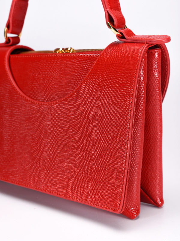 Circle lizard skin bag shop online: L