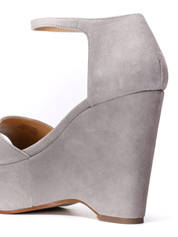 Claire wedge suede sandals shop online: Michael Kors