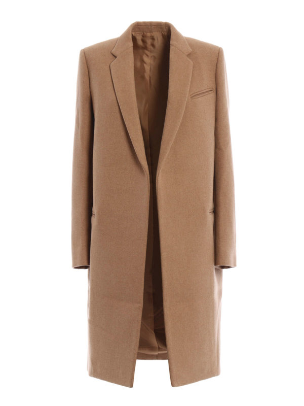 Céline: knee length coats - Structured wool coat