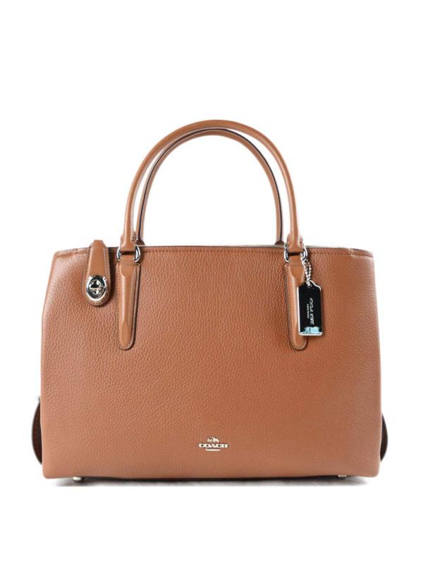 Coach: Handtaschen - Shopper - Hellbraun