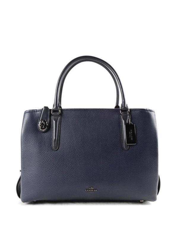 COACH: Handtaschen - Shopper - Blau