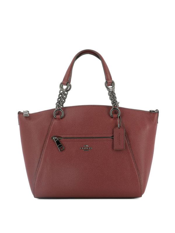 COACH: Handtaschen - Shopper - Dunkelrot