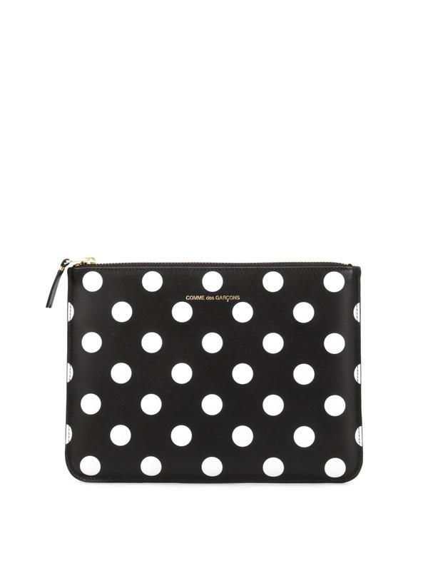 Comme Des Garcons: wallets & purses - Polka dot pouch
