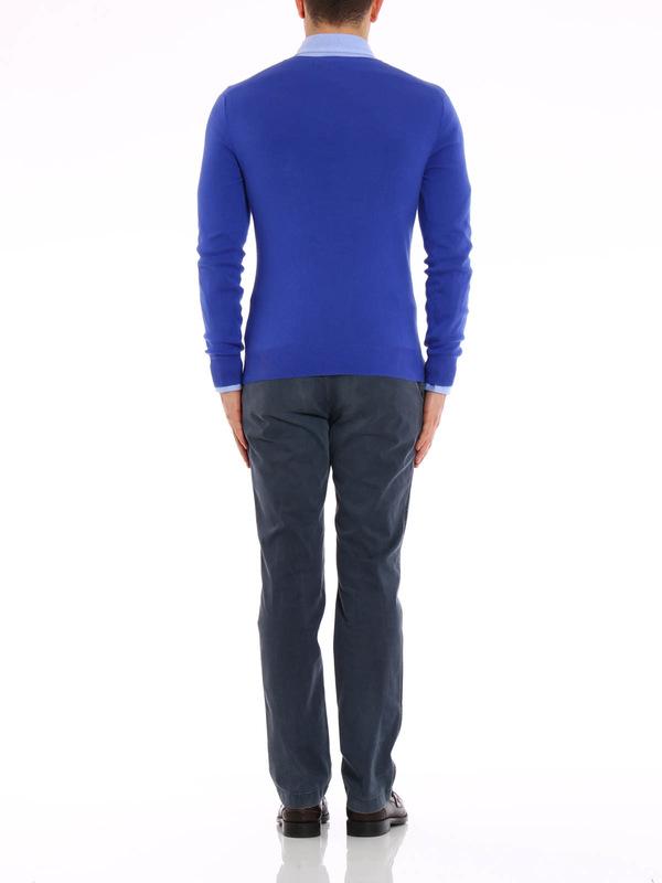 sale retailer 849c9 92c59 Polo Ralph Lauren - Cotton slim fit pullover - v necks ...