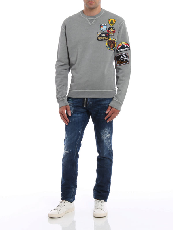 Sweatshirt - Einfarbig shop online: DSQUARED2
