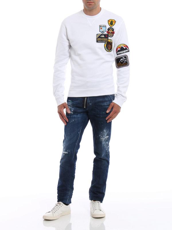 Sweatshirt - Einfarbig shop online: Dsquared2