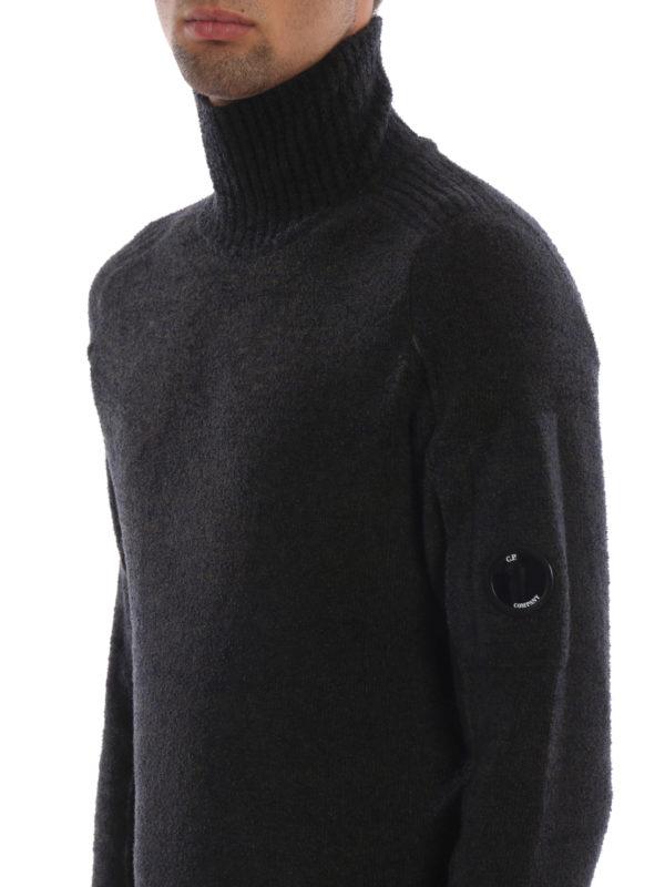 CP COMPANY buy online Melange green Lens wool blend knit sweater
