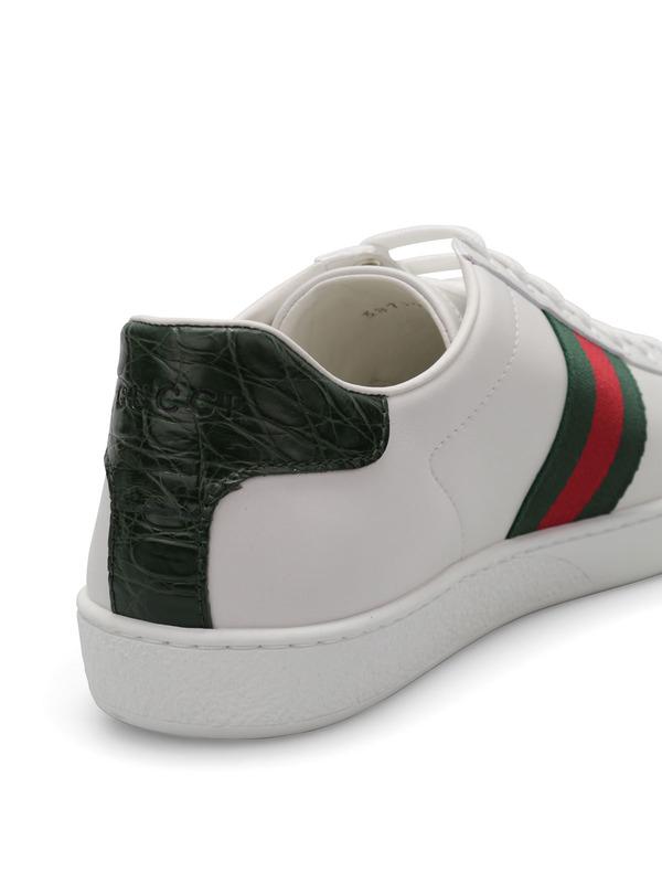87bbeecb059 Gucci - Crocodile sneakers - trainers - 387993 A3830 9071