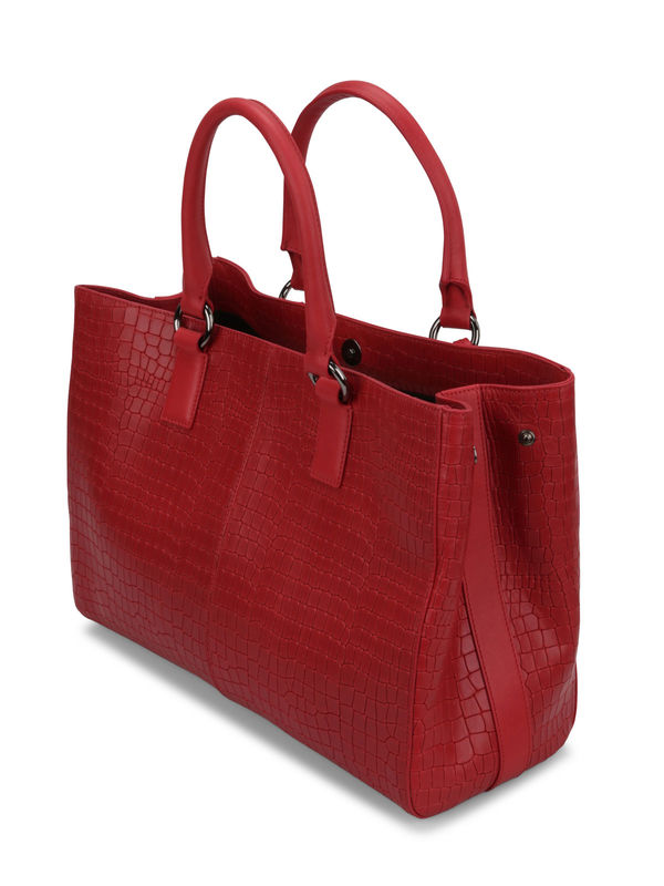 Crocodile texture shopping tote shop online: Armani