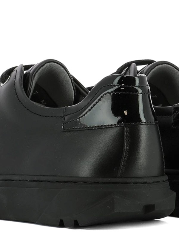Cube leather sneakers shop online: SALVATORE FERRAGAMO