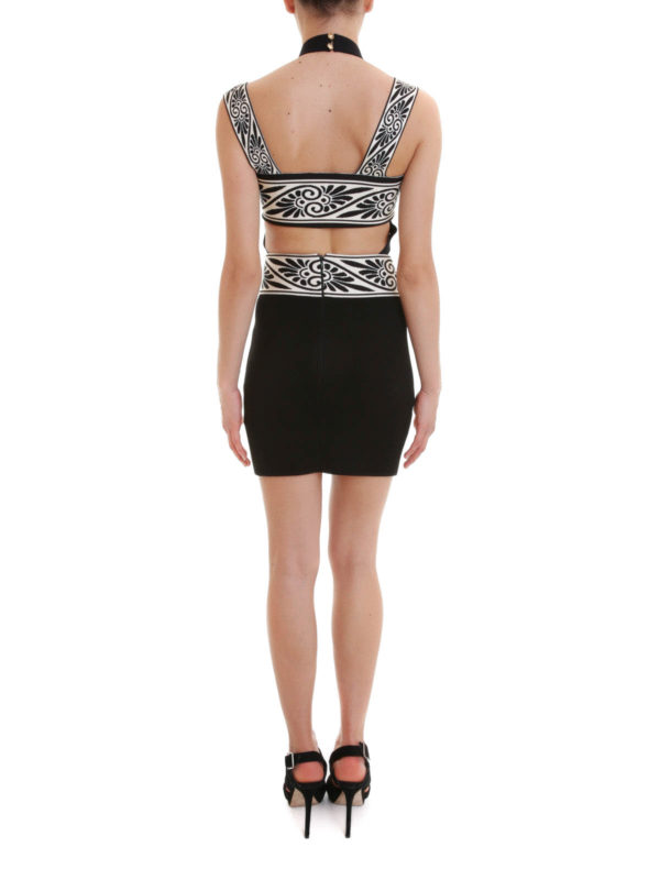 Cut-out knitted short dress shop online: Fausto Puglisi